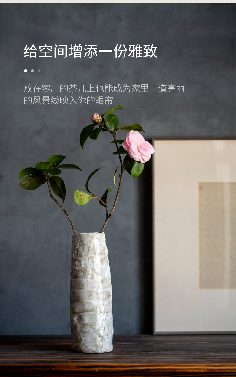 Ultimately responds to hand make coarse pottery vase household adornment restoring ancient ways furnishing articles ceramic hydroponic sitting room dry flower arranging flowers, TV ark