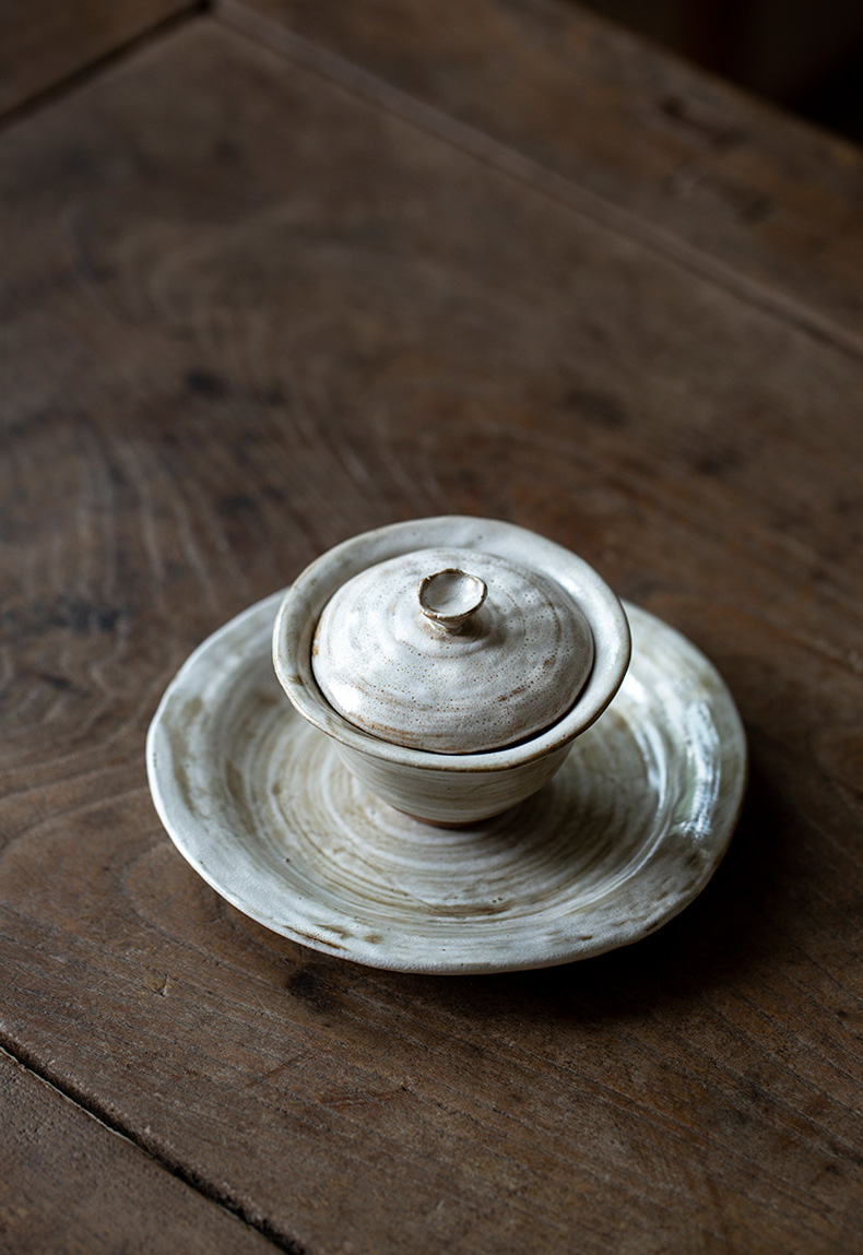 Ultimately responds to ceramic tureen household kung fu tea tea cup three begin for restoring ancient ways is not single finger bowl bowl