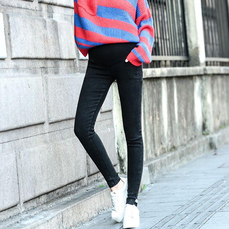 孕妇裤新款加绒牛仔裤托腹小脚裤冬季外穿长裤孕妇装春秋打底裤潮