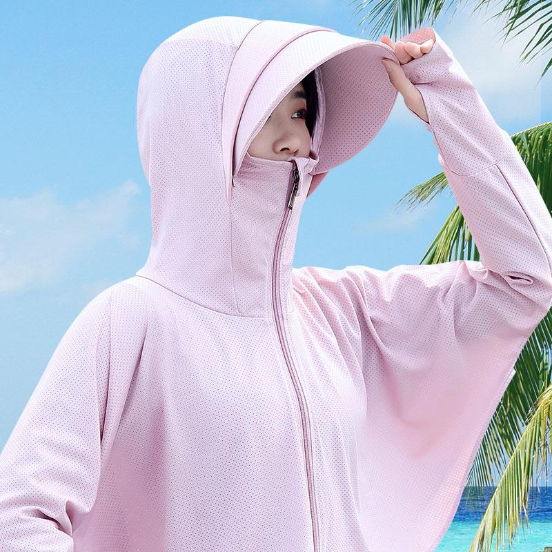 冰丝遮脸防紫外线防晒衣遮阳帽