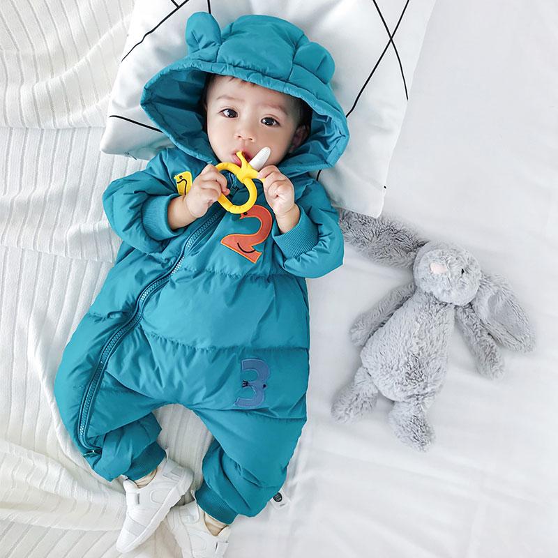 反季婴儿羽绒服冬季外出抱衣女0-1一2岁加厚保暖男宝宝羽绒连体衣_领取40元淘宝优惠券