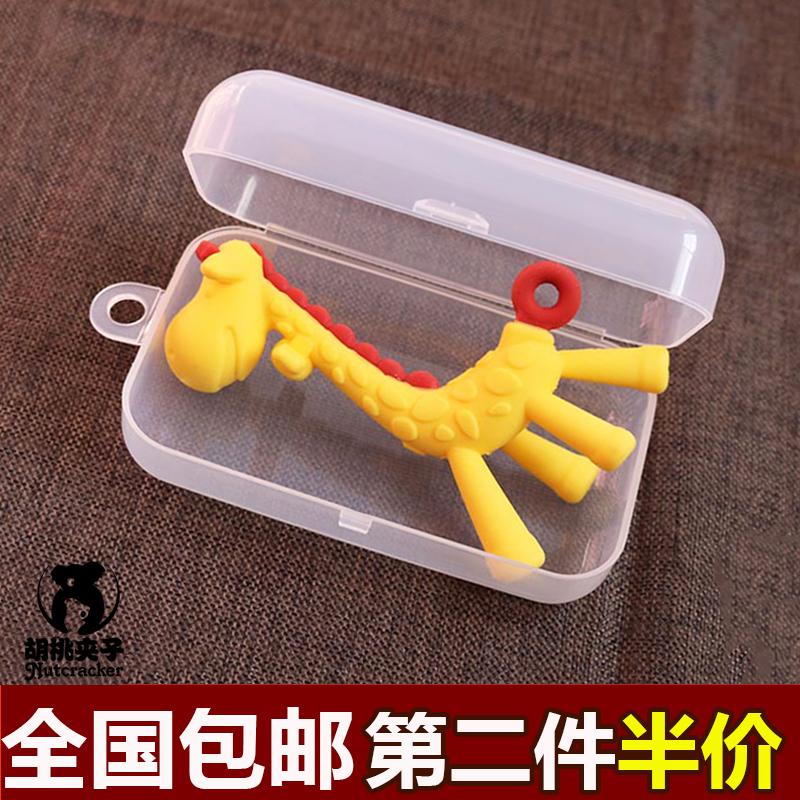 Прорезыватель в коробку япония олененок прорезыватель банан молярный палка успокаивать ниппель укусить мешок хранение в коробку