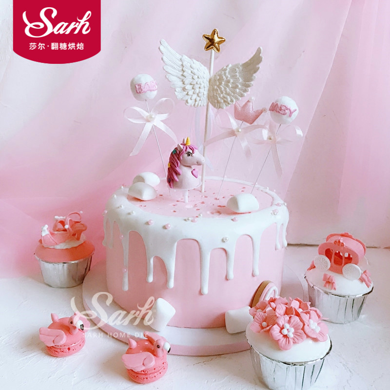Fantastic Stereo Angel Wings Crown Baby Ball Cake Stick Party Decoration Personalised Birthday Cards Epsylily Jamesorg