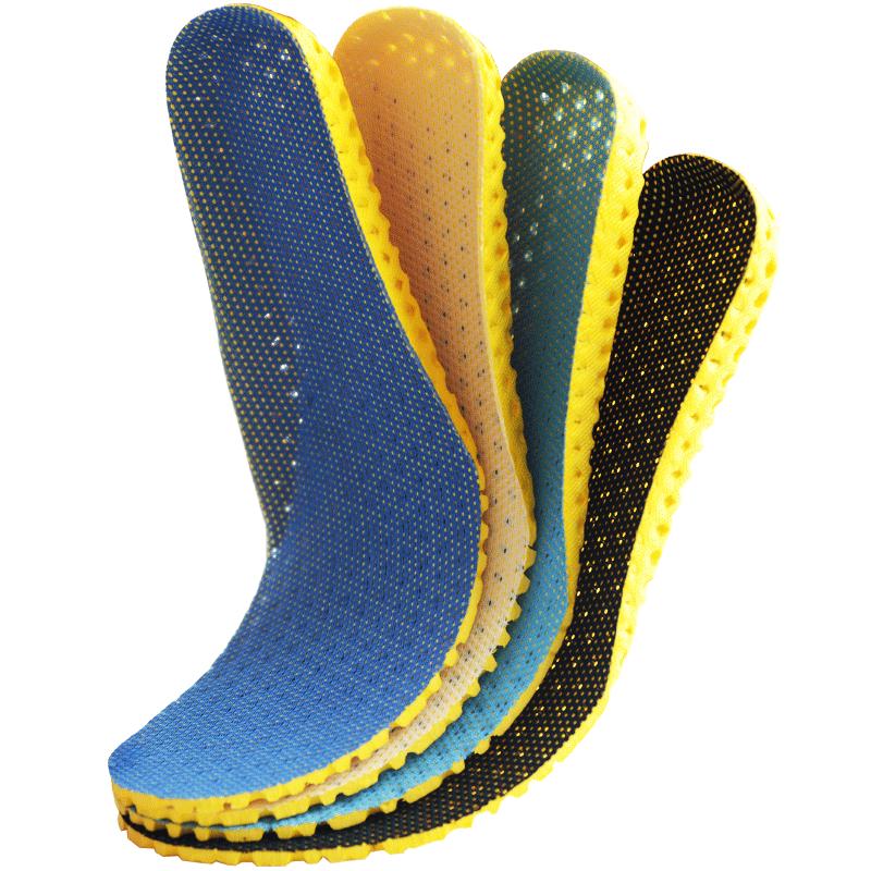 【3双装】男女透气吸汗运动鞋垫