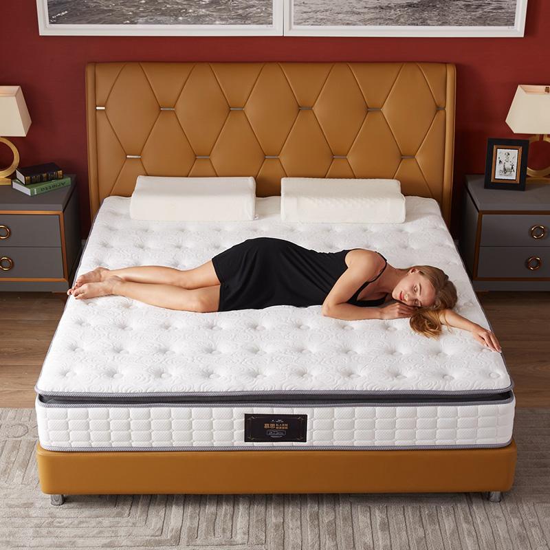慕思床垫 独筒弹簧床垫 3cm天然乳胶床垫三重防螨1.8米 睡眠精