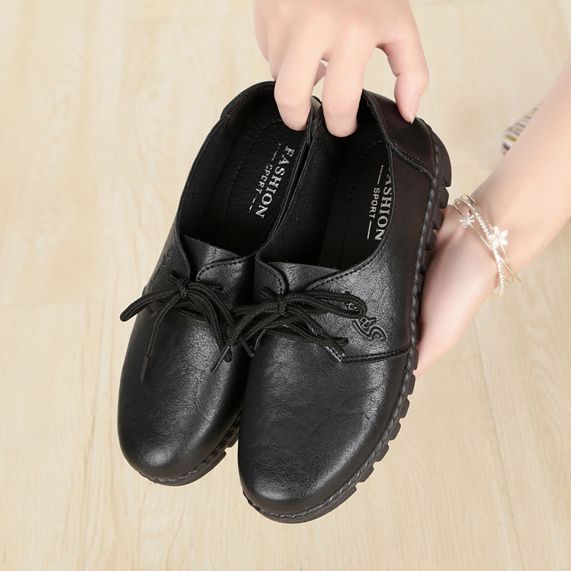 Kfc Work Shoes Flat Soft Bottom Non Slip Shoes Peas Shoes Chinese Restaurant Black Shoes Flat With Mother Shoes Shoes