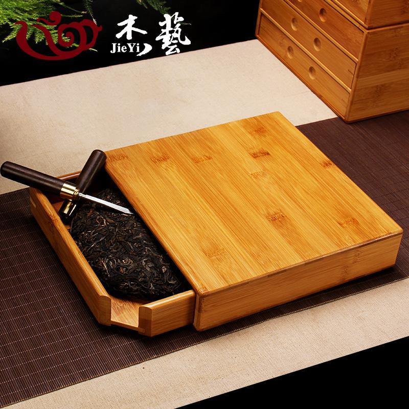 Pu'er чай коробка чай чайник чай нож чайный набор чай стрелка Чайный конус чайный торт полка инструмент бамбук чайный лоток чайная церемония аксессуары