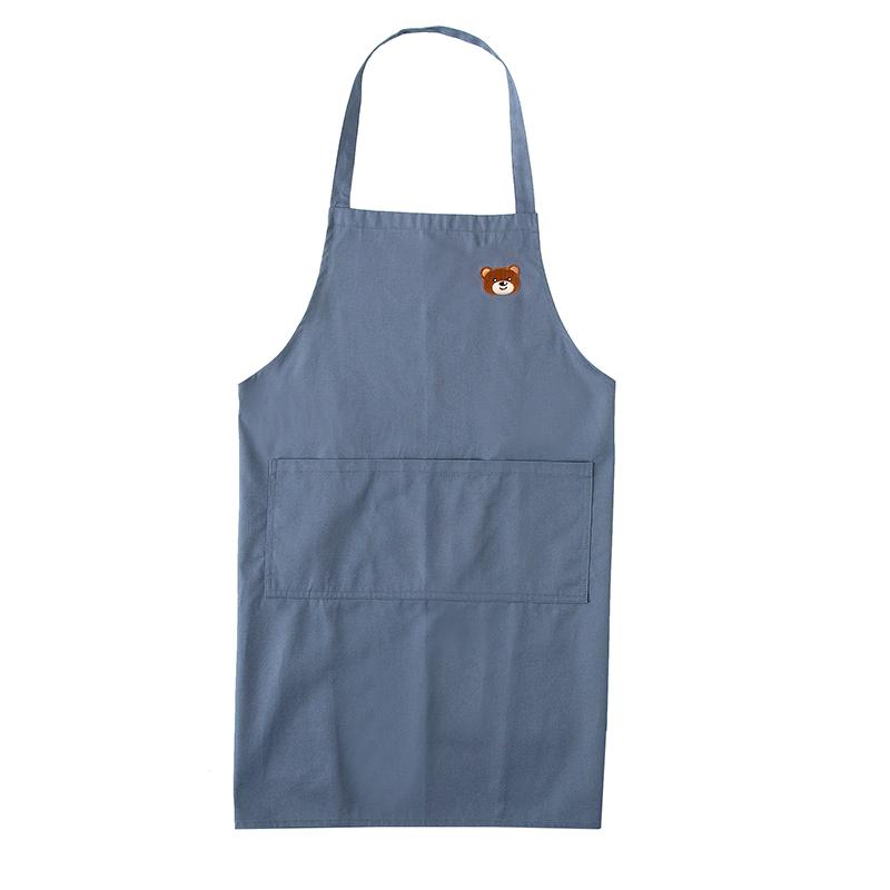 围裙家用厨房大码定制工作服纯棉印字logo女男士时尚定做防水围腰