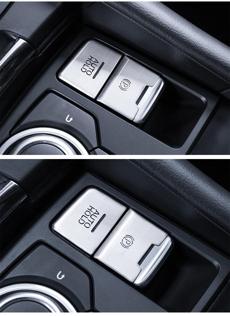 Ốp nút trang trí phanh tay điện tử và đa phương tiện  Mazda 3 - ảnh 12