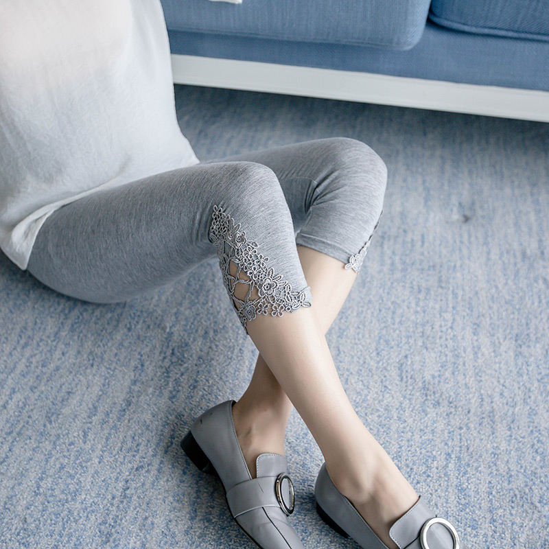 Phụ nữ mang thai xà cạp mùa hè phần mỏng thêu cắt quần dạ dày lift thai sản dress shorts mùa hè ăn mặc quần thai sản