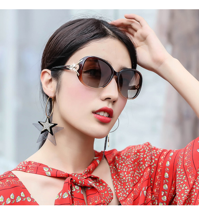 偏光太阳镜女士防紫外线ins墨镜gm韩版潮2019款圆脸网红变色眼镜商品详情图