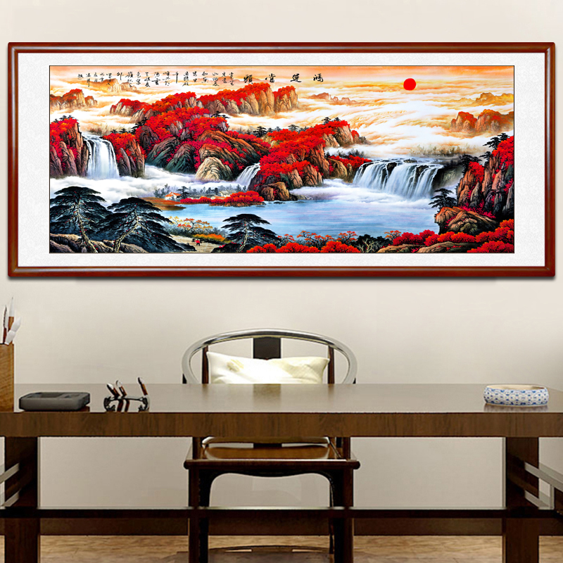 Quartet Fortune Leading Chinese Painting Landscape Painting Feng