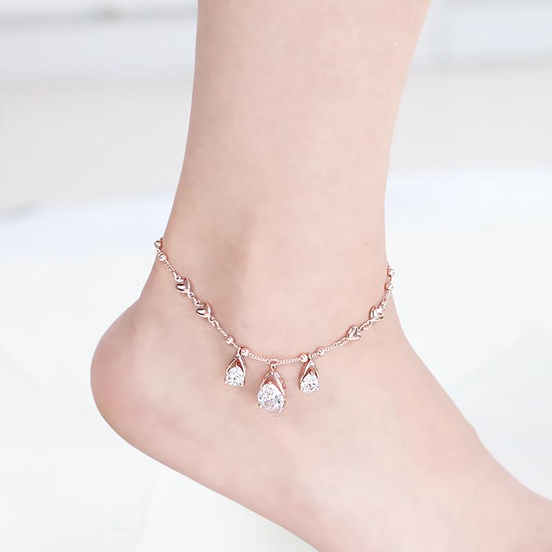 脚链女士韩版简约学生清新个性闺密俏皮活泼性感时尚款女2018新款