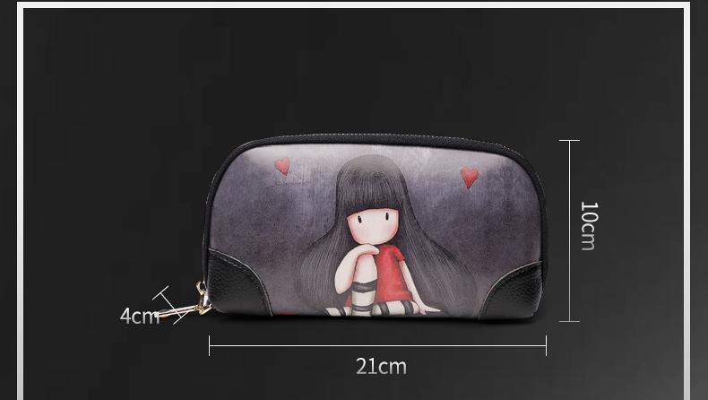 新款潮女实用手拿包卡通手拎包休閒百搭大容量小手包手拎钱包详细照片