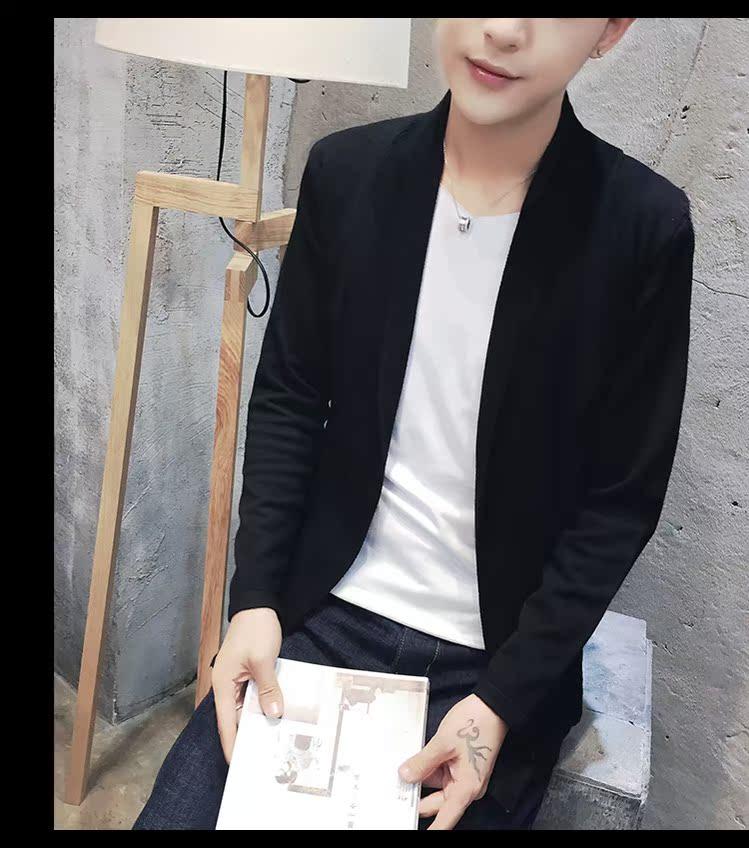 秋季型男款 韩版开衫2件套修身针织衫 披风毛线衣 男装 潮 F22P65