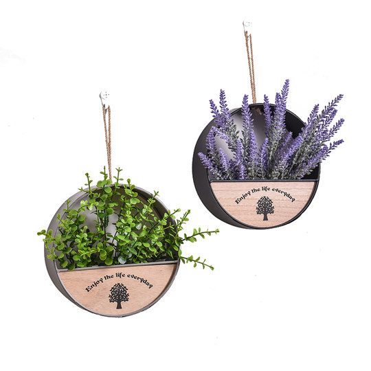 Wall wall blocking pendant creative wall-mounted flower basket wall hanging plants flower pot decorative flowers