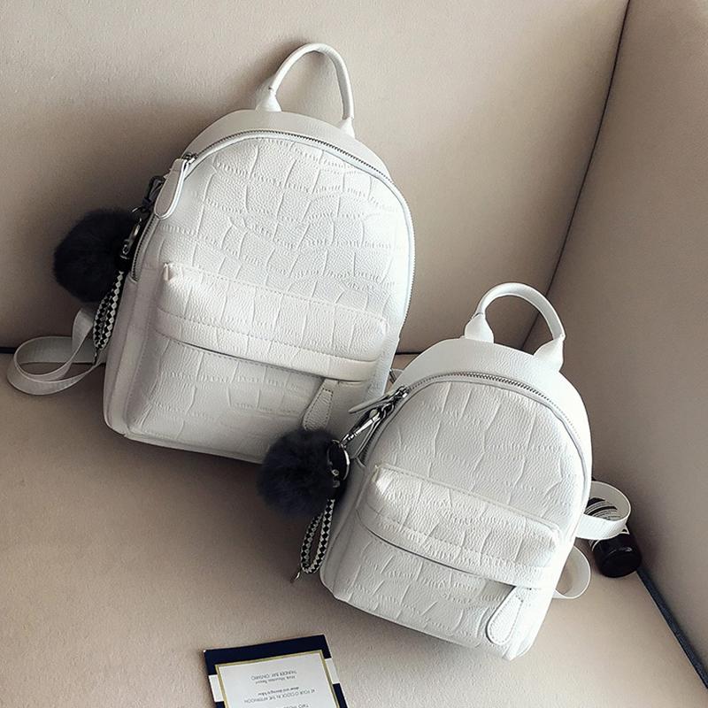 时尚潮流ins超火的双肩包女皮质2019新款韩版百搭软背包女士小包