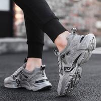 2020 новая коллекция лето воздухопроницаемый мужской Обувь спортивная для отдыха Обувь для бега из сетки модные Всесовместная сетка в старомодной обуви