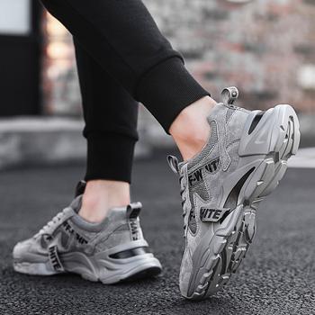 2020 новый кондиционер мужская обувь спортивный досуг бег обувь тенденция дикий меш ins старый отец обувь, цена 852 руб