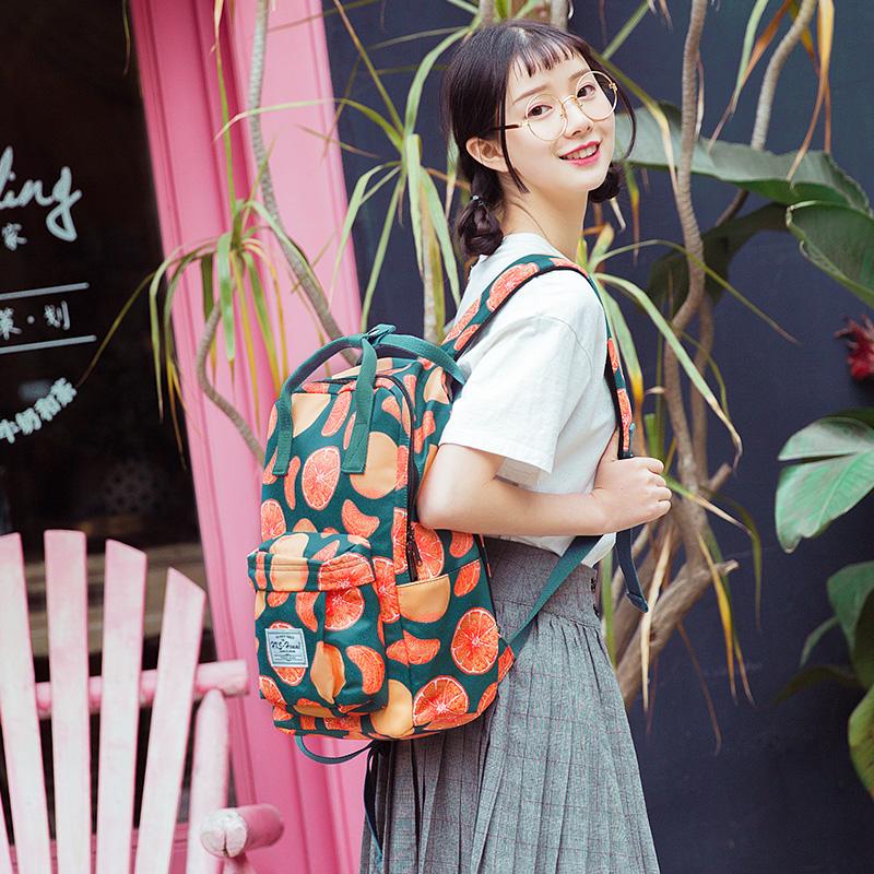 雙肩包女2019新款時尚百搭背包校園旅行包大容量韓版高中學生書包