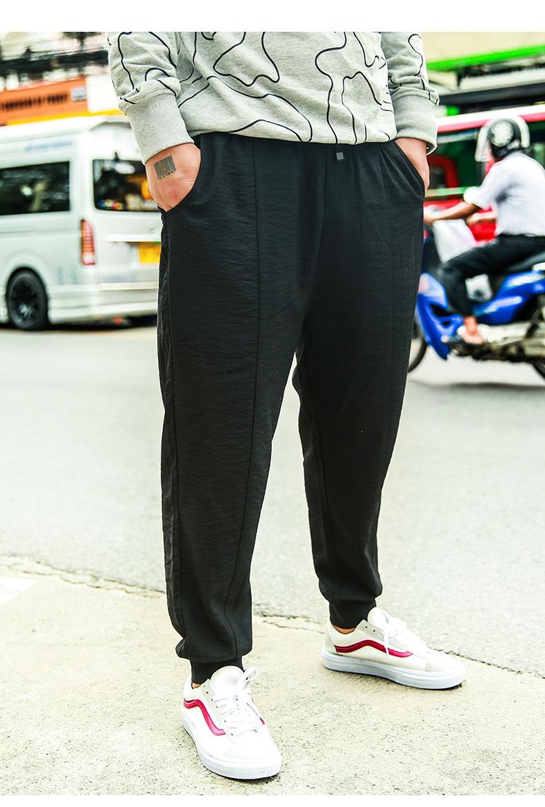 Weichen tide thương hiệu kích thước lớn nam mùa hè ăn mặc phần mỏng quần tây giản dị người đàn ông béo cộng với phân bón tăng chân lỏng lẻo quần người đàn ông béo