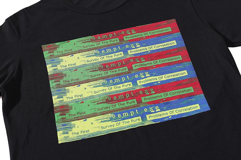 Korea韓日代日系CAVEMPT CORRELATION 青山限定款CE霓虹圖案印花男女短袖T恤