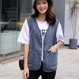 Horse clip female 2020 spring short section vest V cardigan age-age mother vest autumn wearing fashion