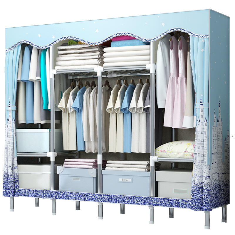 Simple Wardrobe Cloth Art Receiving Wardrobe Bedroom Wardrobe Storage  Wardrobe Cloth Wardrobe Simple Modern Economic Assembly