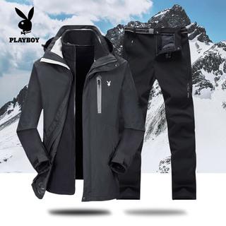 Костюмы,  Playboy осенью и зимой новый утолщённый куртка брюки костюм мужской и женщины прилив бренд три в одном восхождение одежда мужчина, цена 4883 руб