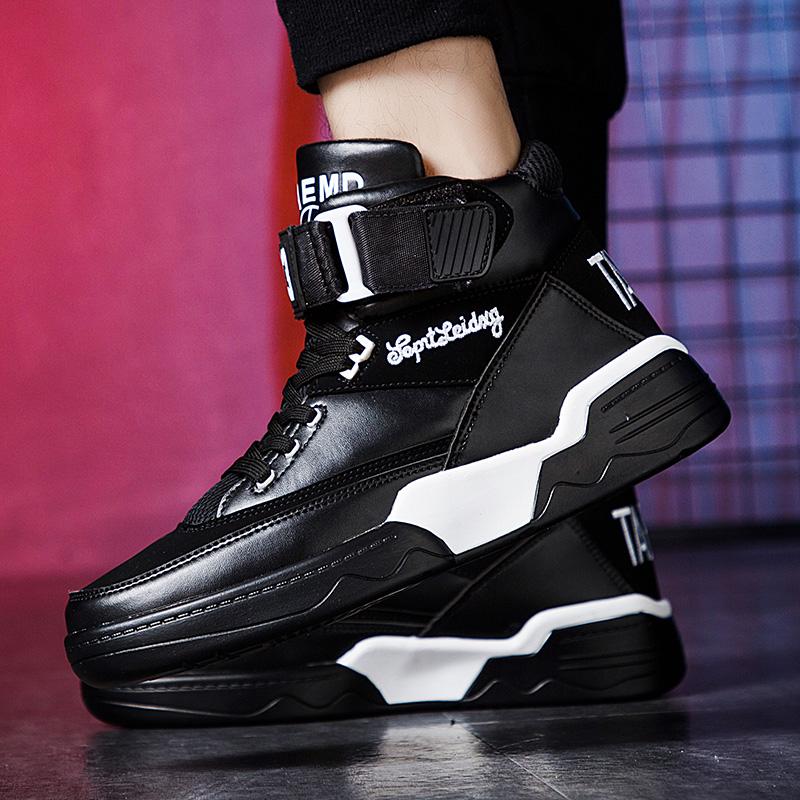 秋季高帮运动鞋子时尚板鞋韩版潮鞋男鞋篮球鞋冬季加绒棉鞋保暖鞋