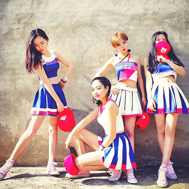 aoa with the same paragraph costumes cheerleading costumes male and female students  cheerleading costumes adult clothing d697136fc7e7