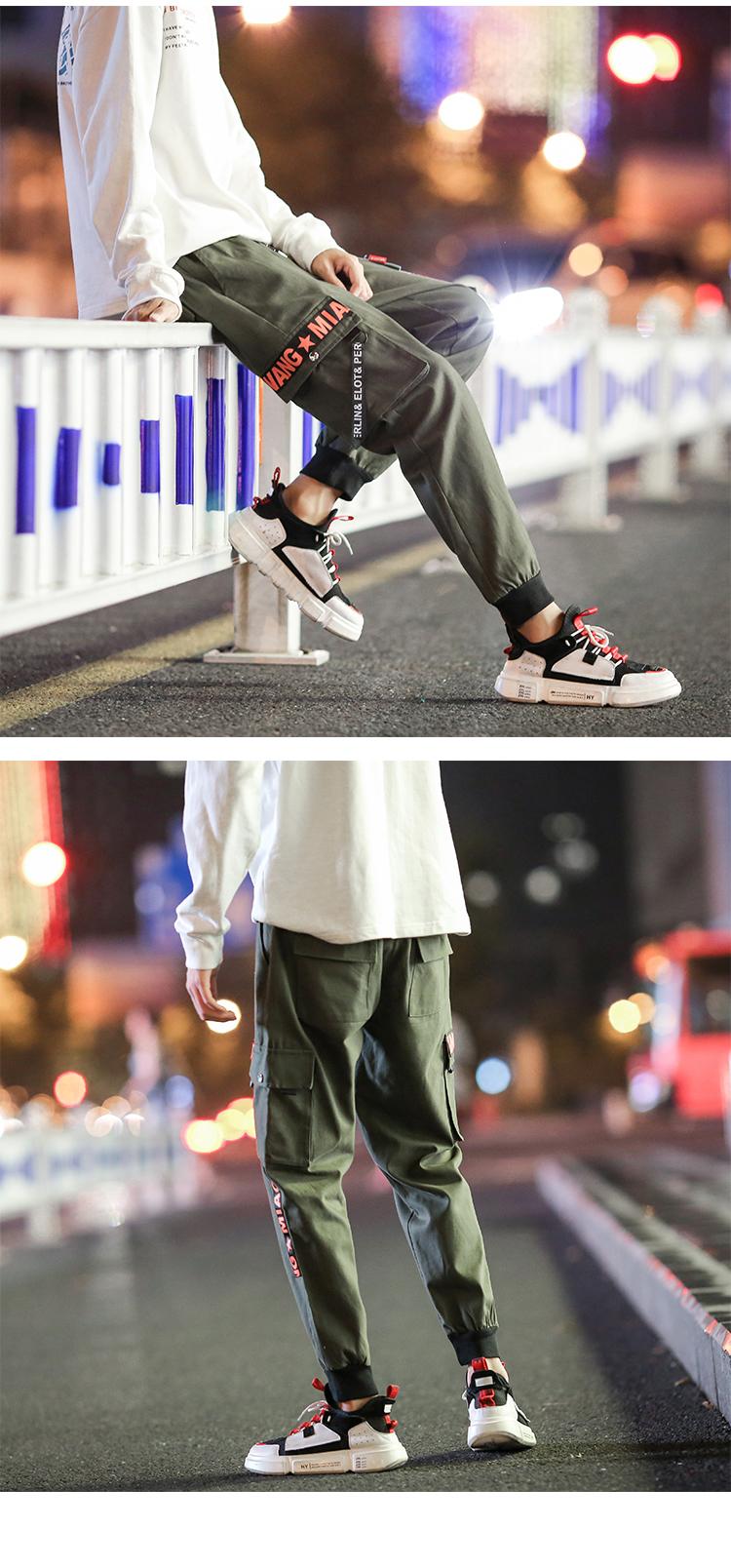 工装裤织带飘带休闲迷彩休闲裤XZ113-3-8811-P55(控价88)