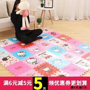儿童泡沫地垫宝宝拼图KT猫垫子卡通爬行垫卧室家用婴儿拼接爬爬垫