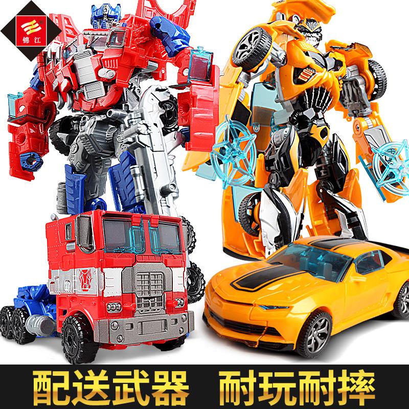 变形玩具金刚5 正版4大黄蜂恐龙汽车机器人儿童男孩手动手办模型