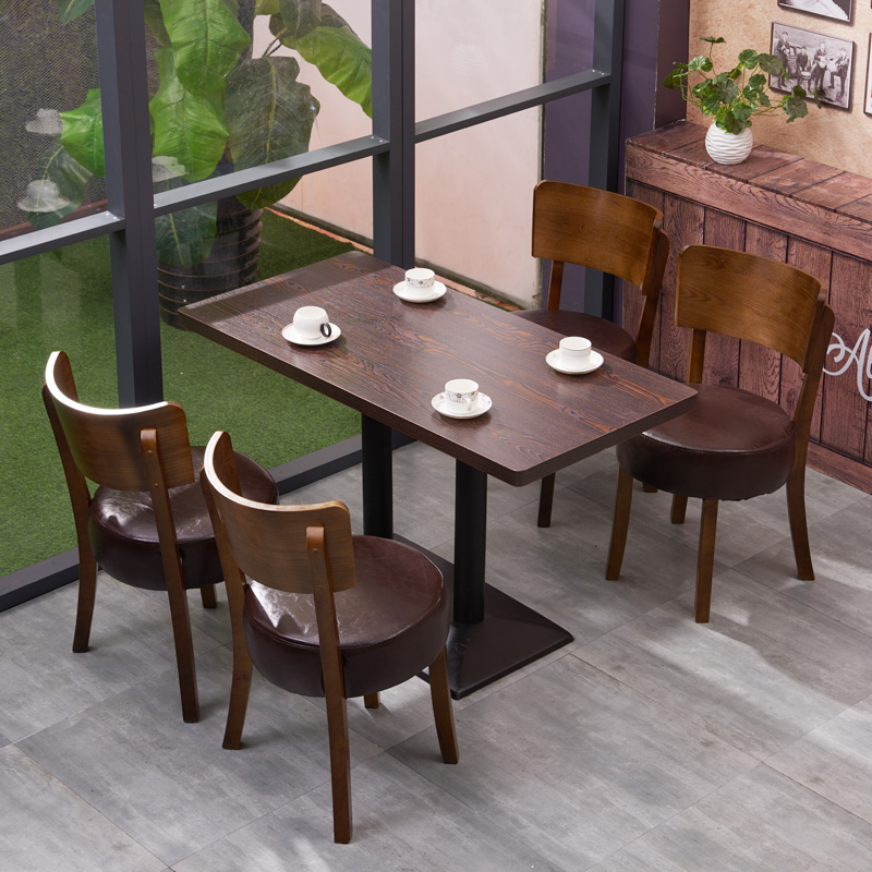 Simple Coffee Shop Tables And Chairs Solid Wood Tea Restaurant Dessert  Restaurant Tea Shop Leisure Bar ...