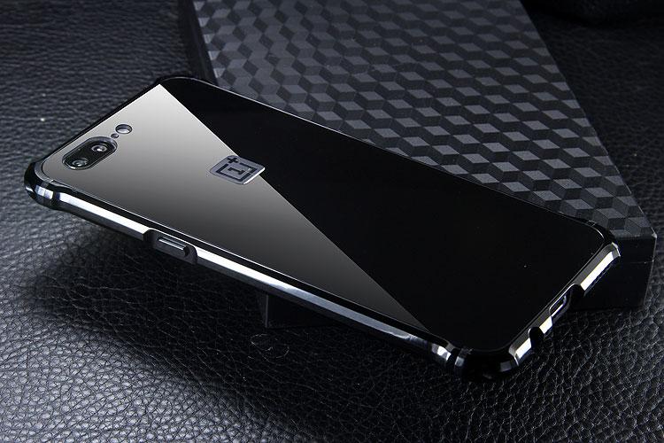 iy Rainbow Aluminum Metal Bumper Dazzle PC Back Cover Case for OnePlus 5