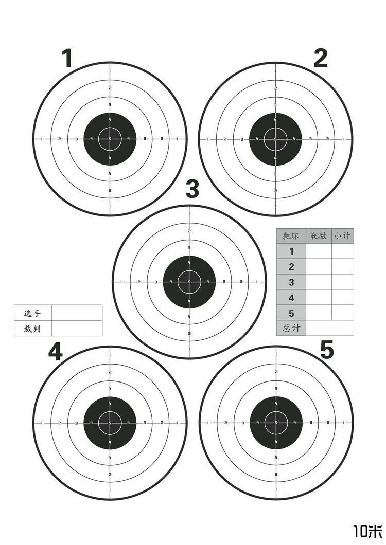 This is a graphic of Tactueux Target Practice Sheets