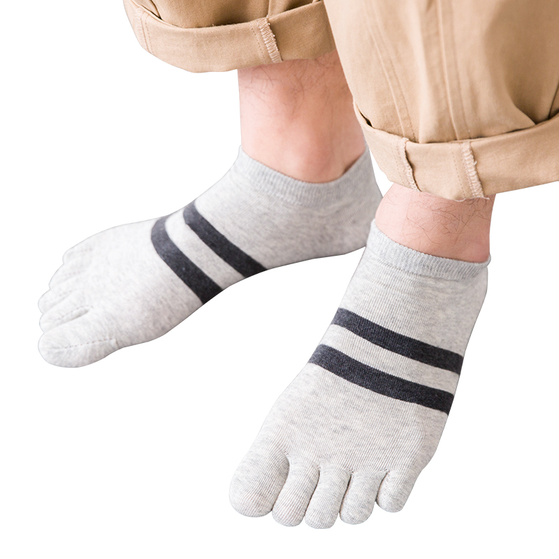 五指襪男夏季薄款男士短襪船襪中筒襪防臭吸汗透氣分腳趾襪子運動