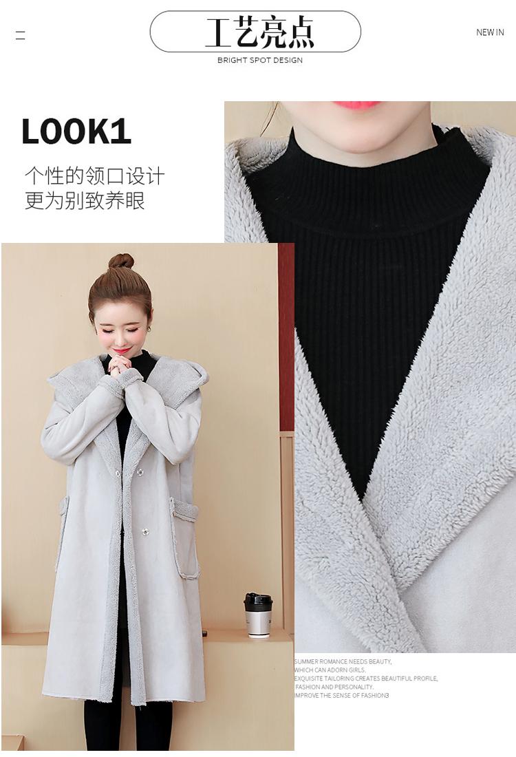 鹿皮絨羊羔毛外套女秋冬新款韓版加絨加厚棉衣棉服❣卡爾旗艦店