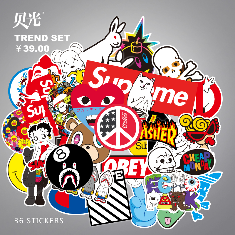 usd 16 36 spoof tide brand suitcase stickers cartoon personality