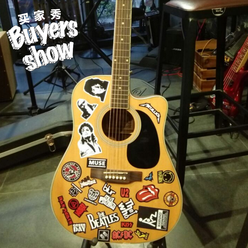 Lightbox moreview · lightbox moreview prevnext luggage trunk guitar sticker rock band