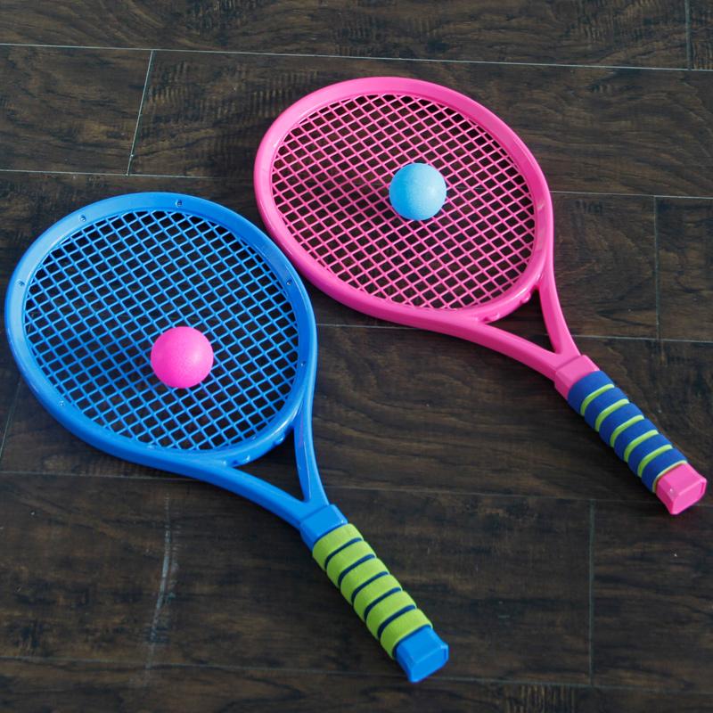 Товары для спортивных игр Детская теннисная ракетка ракетки для бадминтона мяч игрушка 3-6 лет детские игрушки для мальчиков открытый спортивные игрушки