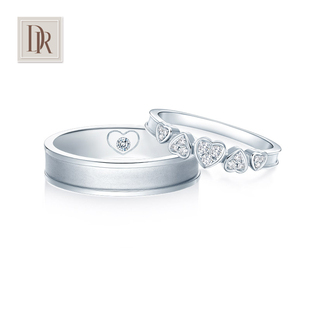 DR DARRY RINGMY HEART series heart couple couple ring 18K white gold wedding ring