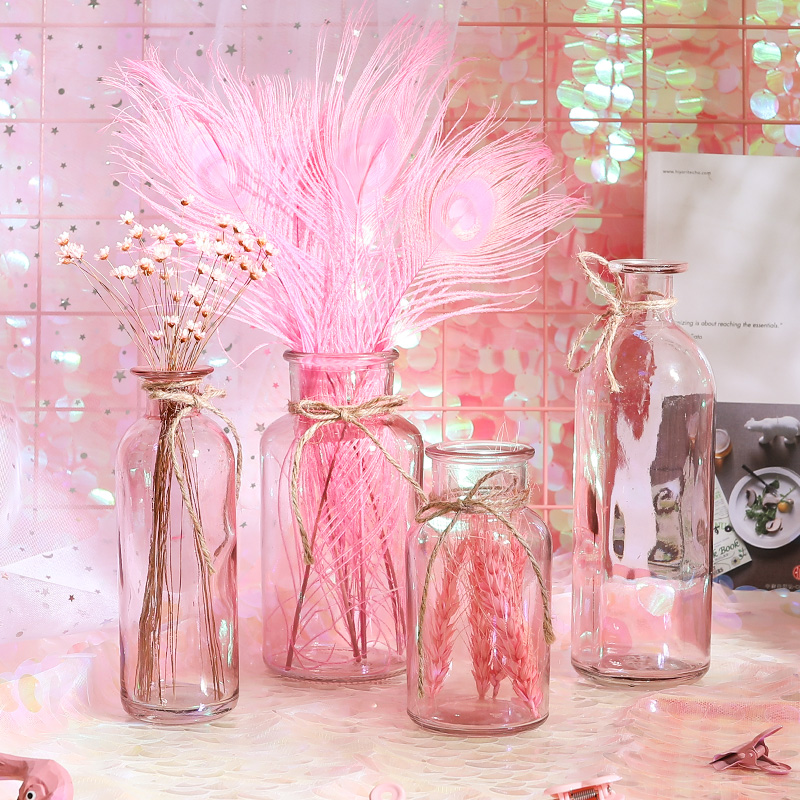 USD 8.20] Home fresh decorated glass bottle transparent ornaments ...