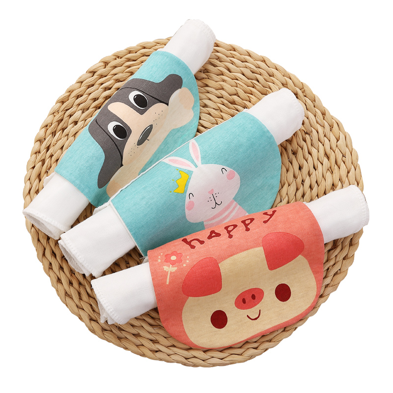 【超值5条装】宝宝纯棉吸汗巾