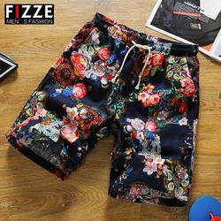 Summer new casual loose printing shorts men's summer tide men's pants 5 points pants five points beach pants thin
