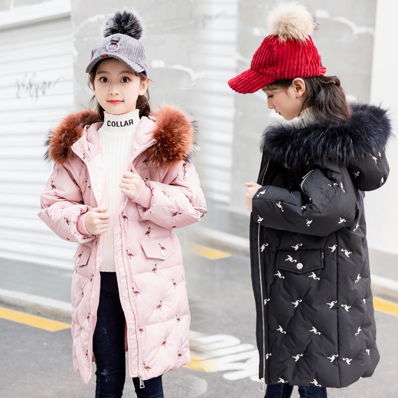 新款巴拉bala儿童羽绒服女童中长款加厚女孩羽绒外套韩版正品特价