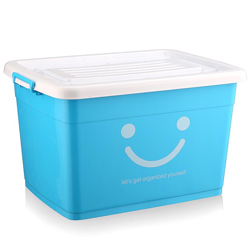 加厚透明塑料收纳箱整理箱玩具筐特大号衣服被子置物周转储物箱子