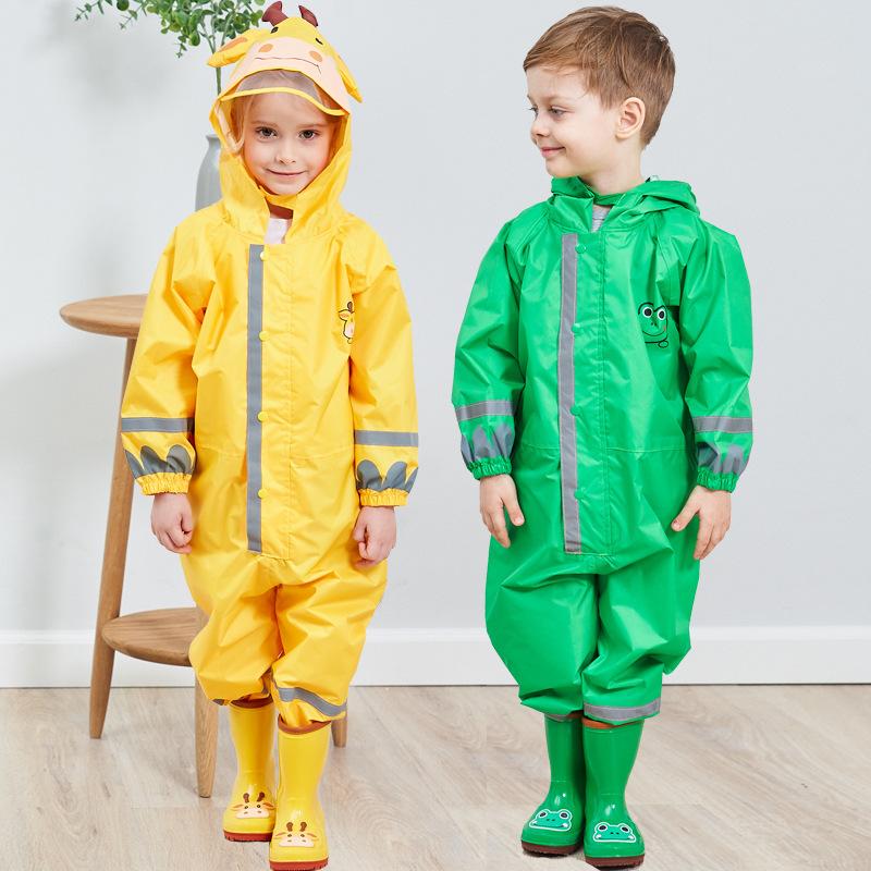 宝宝雨衣一体式全身立体男童宝宝儿童连体女童轻薄连帽雨披可爱