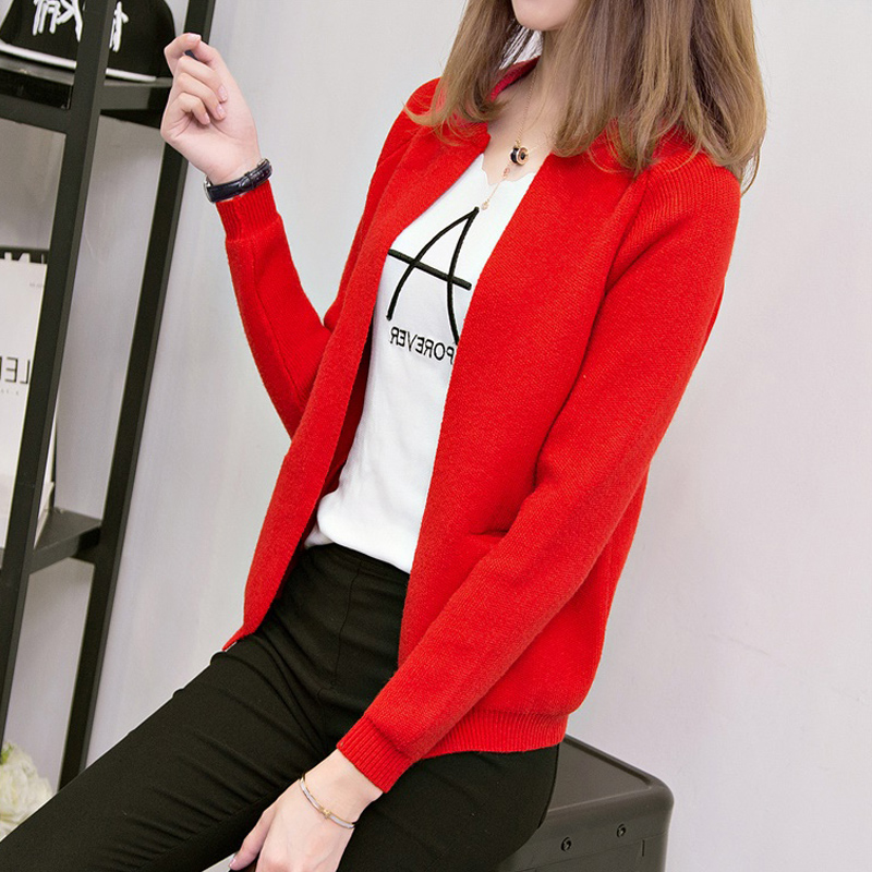 Early autumn net red spring coat 2019 new women's knit cardigan jacket female spring and winter light long-sleeved